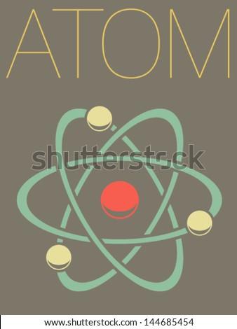 Vector Minimal Design - Atom  - stock vector