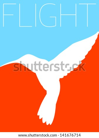 Vector Minimal Design - Colibri  - stock vector