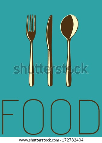 Vector Minimal Design - Food  - stock vector