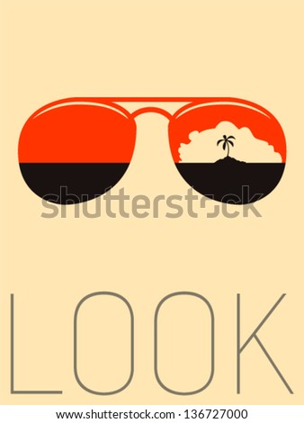 Vector Minimal Design - Look  - stock vector