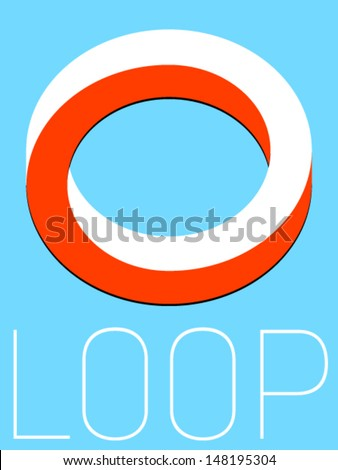 Vector Minimal Design - Loop  - stock vector