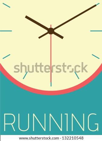 Vector Minimal Design - Running Time - stock vector