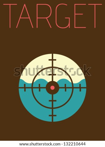 Vector Minimal Design - Target - stock vector