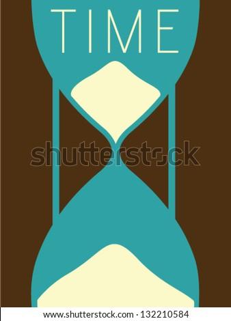 Vector Minimal Design - Time - stock vector