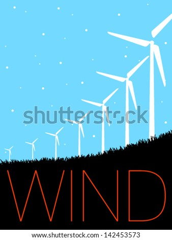 Vector Minimal Design - Windmills