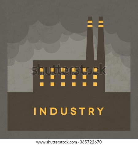 Vector Minimal Poster: Industry - stock vector