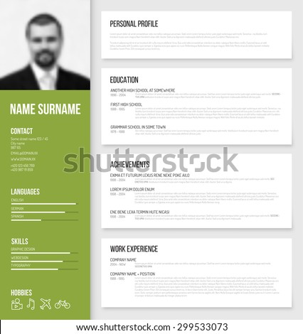Personal profile stock images royalty free images for Personal profile design templates