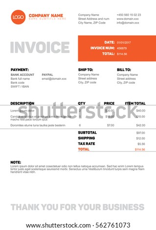 Freelance Invoice Sample Invoice Stock Images Royaltyfree Images  Vectors  Shutterstock Macys Return Without Receipt Word with Petsmart Return Without Receipt Pdf Vector Minimalist Invoice Template Design For Your Business  Company Red Velvet Cake Receipt Pdf