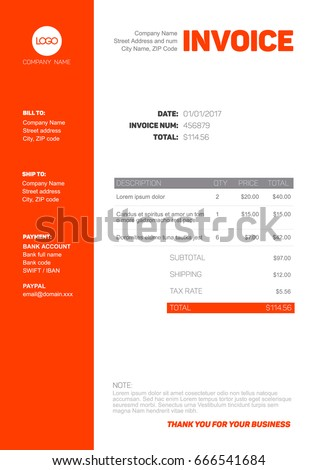 Invoice Template Stock Images, Royalty-Free Images & Vectors ...