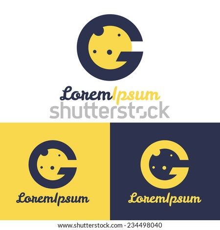 Vector minimalistic G letter space logo - stock vector