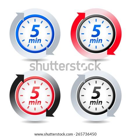 Vector 5 minutes - stock vector