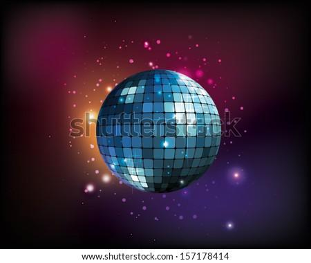 vector mirror disco ball - stock vector