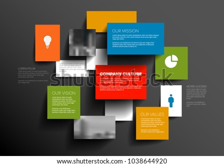 Schema stock images royalty free images vectors shutterstock vector mission vision and values diagram schema template with sample texts and photos dark ccuart Image collections