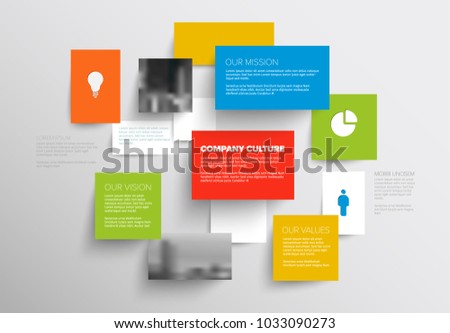 Schema stock images royalty free images vectors shutterstock vector mission vision and values diagram schema template with sample texts and photos light ccuart Image collections