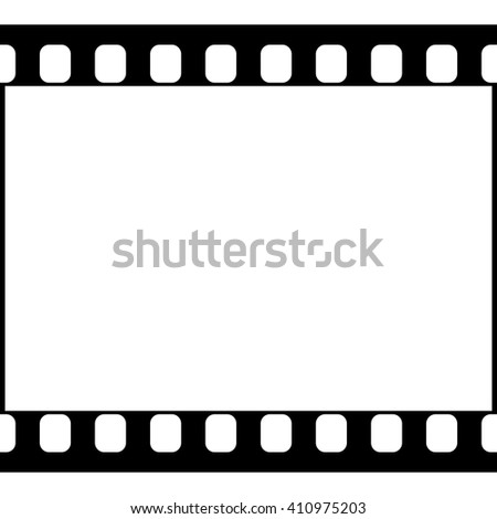 Vector 35 mm Film Strip Illustration on White Background. Abstract Film Strip design template. Film Strip Seamless Pattern.
