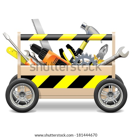 Vector Mobile Toolbox - stock vector