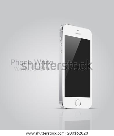 Vector MockUp white phone - stock vector