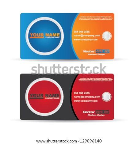 Vector modern abstract creative business cards