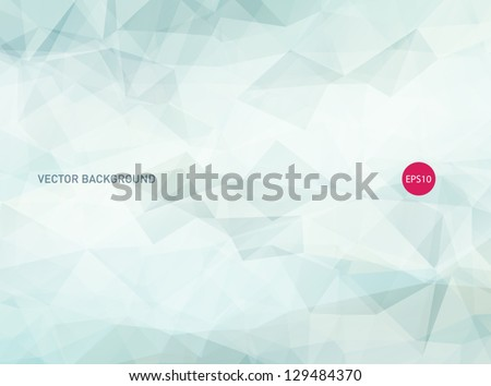 Vector modern abstract light blue polygonal background - stock vector