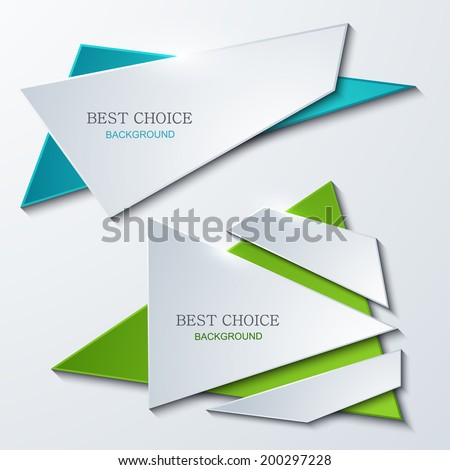 Vector modern banners element design. Modern background. Eps10 - stock vector