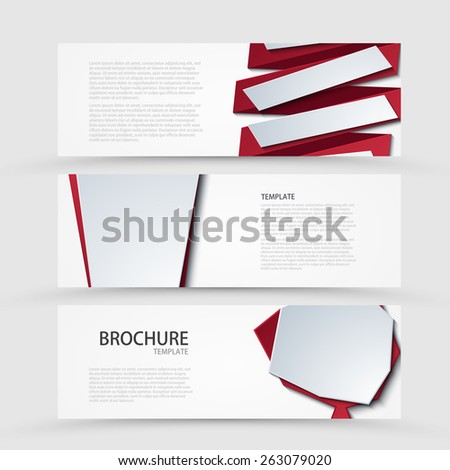 Vector modern banners set on gray background. Eps 10 - stock vector