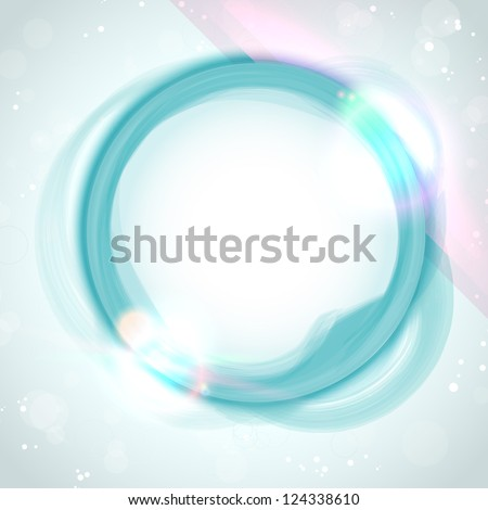 Vector - Modern Blue Green Circle Glowing Effects - stock vector