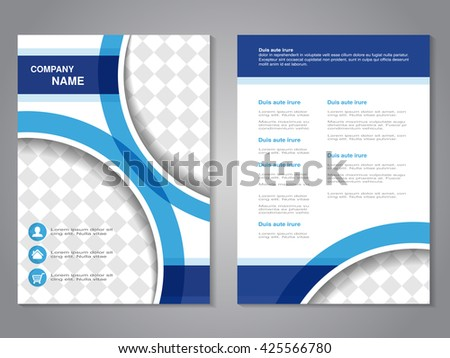 Vector modern brochure, abstract flyer, simple design with parts of circles for your photos or images.