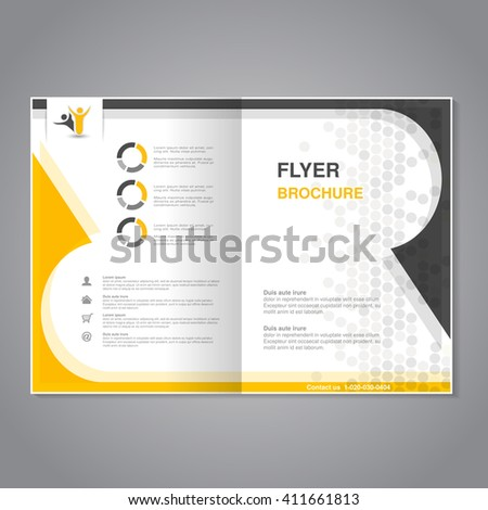 Vector modern brochure, abstract flyer with simple dotted design.