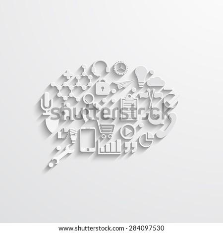 Vector modern  bubble speech. Business background template - stock vector