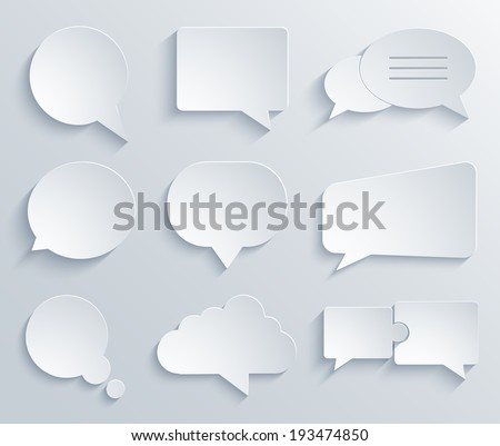 Vector modern bubble speech icons set. Eps 10 - stock vector