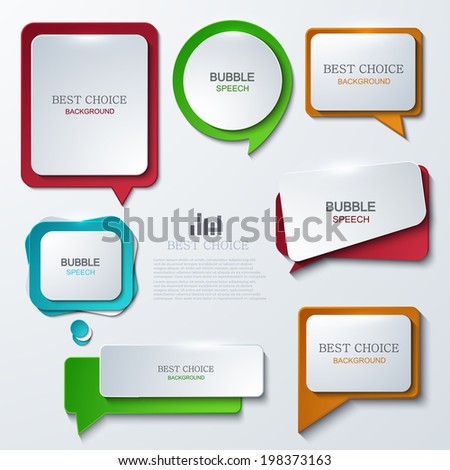 Vector modern bubble speech icons set. Eps 10