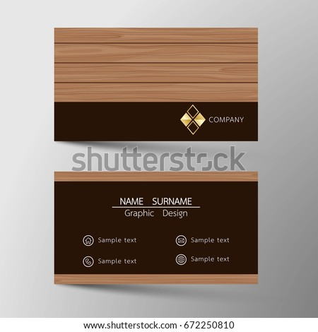 Vector modern business card template inspired stock vector hd vector modern business card template inspired by wood surface flat design icon reheart Gallery