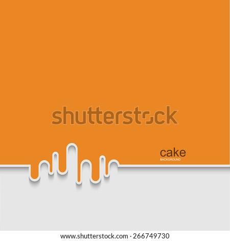 Vector modern cake background design. Eps 10 - stock vector