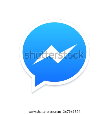 Vector modern chat app icon on white background - stock vector
