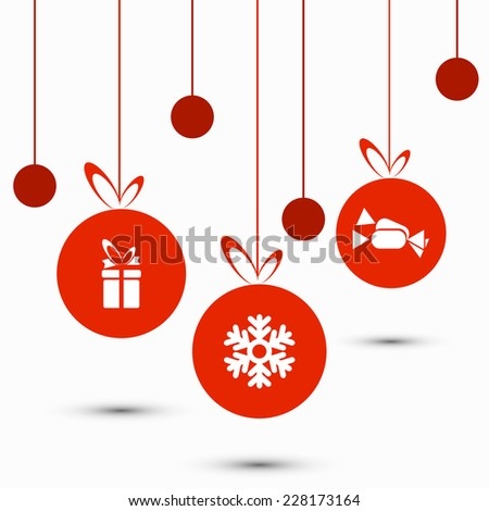 vector modern christmas background. Eps 10 illustration - stock vector