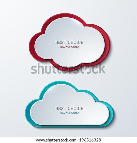 Vector modern clouds banners set. 2 variants. Business elemetn design. Eps10 - stock vector