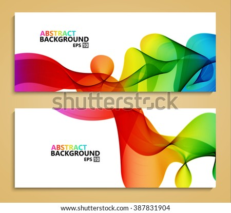 Vector modern colorful abstract backgrounds. Brochure template - stock vector