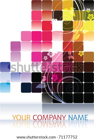 Vector Modern Company Visiting Card - stock vector