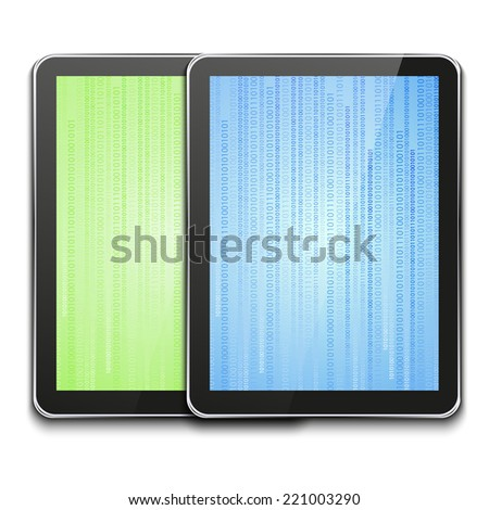 vector modern computer tablets on white background. Eps10