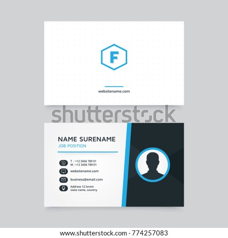 Vector modern creative clean business card stock vector hd royalty vector modern creative and clean business card template flat business card design with profile vector reheart Images