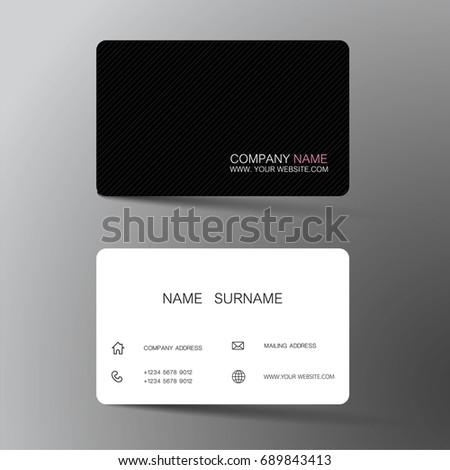 Vector modern creative clean business card stock vector 689843413 vector modern creative and clean business card template flat design colourmoves Images