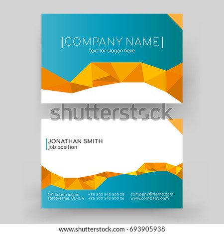 Business Card Design Set Template Company Stock Vector - Business card templates designs