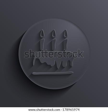 Vector modern dark circle icon. Eps10 - stock vector
