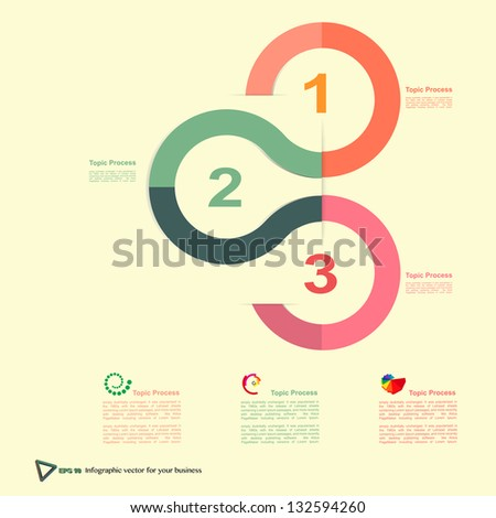 vector Modern Design template infographics , numbered banners , cutout lines , graphic or website layout vector - stock vector