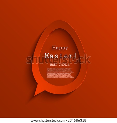 Vector modern easter background. Egg bubble speech - stock vector