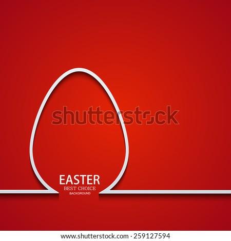 Vector modern easter element design. Egg background - stock vector