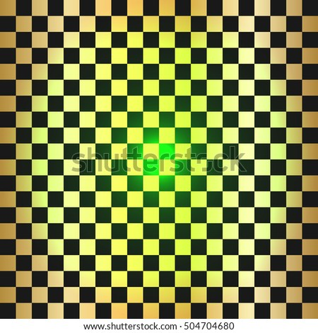 Vector modern empty Gold chess board background. Ready layout for your design.