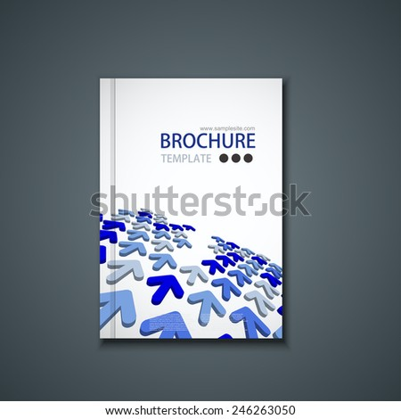 Vector modern flyer or banner. Brochure template design. Eps10 - stock vector