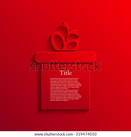 Vector modern gift red icon background. Eps10 - stock vector