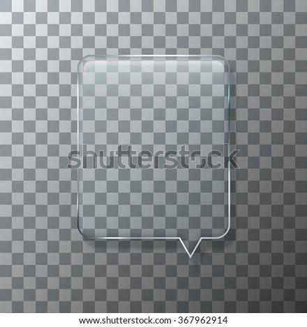 Vector modern glass bubble speech on sample background. Eps10 - stock vector